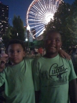 Reese & Jaden enjoying Navy Pier