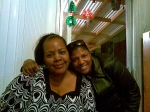 Virginia Threats (Archie Threats' wife) and Sonja Wiley (Verna 'Jean' Wiley's daughter).